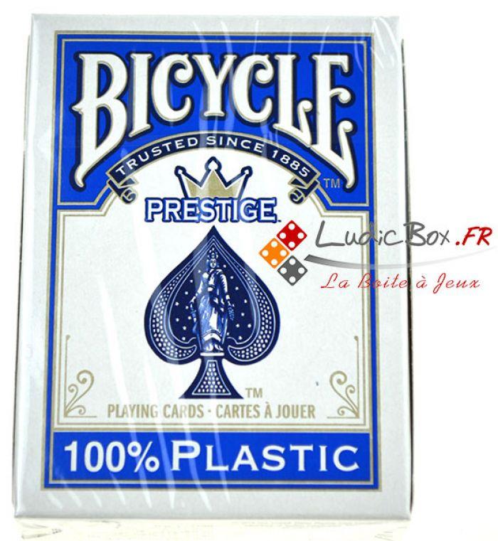 Jeu de Cartes - 100 % plastique bicycle dos bleu pas cher