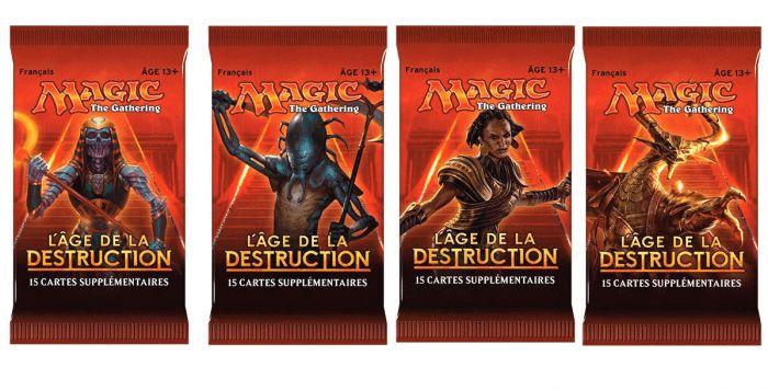 L/'Âge de la Destruction Lot 5 Terrains de Base Full Art VF MTG Magic