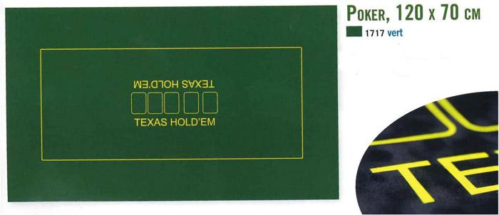Tapis de poker Deluxe 120 par 70cm.