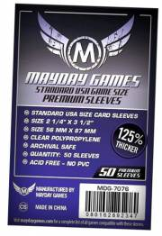 acceder a la fiche du jeu 56x87mm USA Premium - Sleeves Mayday