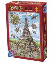 acceder a la fiche du jeu Puzzle CARTOON Tour Eiffel - 1000 pcs