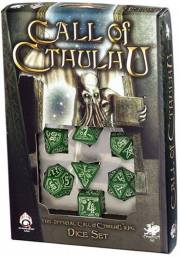 acceder a la fiche du jeu Call of Cthulhu Green & Glow in the Dark Dice Set