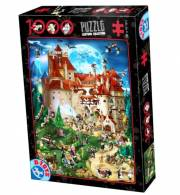 acceder a la fiche du jeu Puzzle CARTOON  Le Manoir Enchante - 1000 pcs