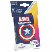 acceder a la fiche du jeu Gamegenic - Marvel Champions Art Sleeves - Captain America (50+1 Sleeves)