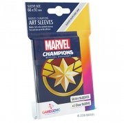 acceder a la fiche du jeu Gamegenic - Marvel Champions Art Sleeves - Captain Marvel (50+1 Sleeves)